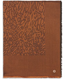 Leopard-Print Pashmina Wrap