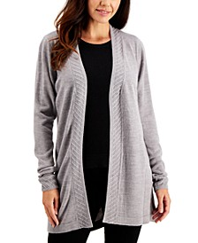 Rib-Trim Open Cardigan, Created for Macy's