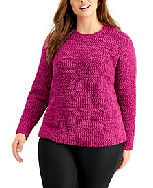 Plus Size Teddy Bouclé Sweater, Created For Macy's