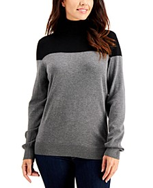 Colorblock Turtleneck Sweater, Created for Macy's
