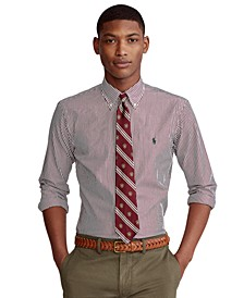 Men's  Big & Tall Classic-Fit Striped Poplin Shirt