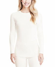 Petite Softwear With Stretch Long-Sleeve Crewneck Top
