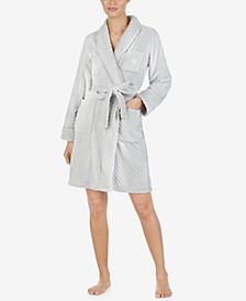 Plush Herringbone Wrap Robe