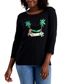 Holiday Escape Graphic Top, Created for Macy's