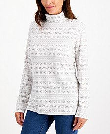 Fair Isle-Print Turtleneck, Created for Macy's
