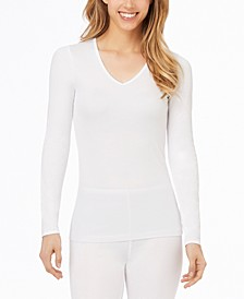 Softwear Lace-Edge V-Neck Top