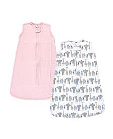 Boys and Girls Safari Interlock Sleeveless Sleeping Bag, Pack of 2