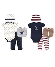 Boys and Girls Football Layette Boxed Giftset, Pack of 8