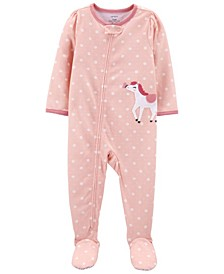 Toddler Girls 1-Piece Loose Fit Footie Pajamas