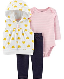 Baby Girl 3-Piece Little Vest Set