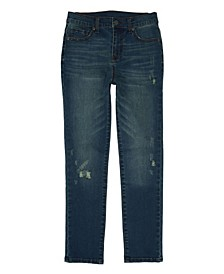 Big Boys Skinny Rip and Repair Denim Jeans