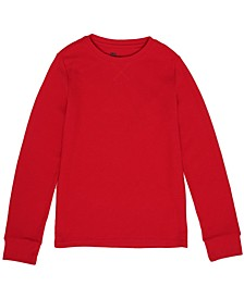 Big Boys Long Sleeve Solid Thermal Top