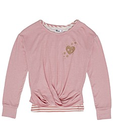 Big Girls Twist Sweater Knit Top