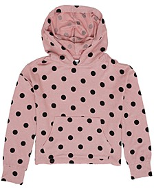 Big Girls All Over Polka Dot Print Hooded Knit Sweater