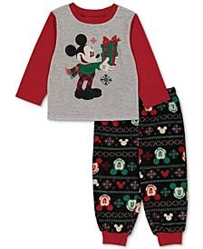 Matching Toddler Boys Holiday Mickey & Minnie Family Pajama Set