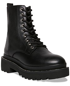 Women's Graham Rhinestone-Studded Lug Sole Combat Booties