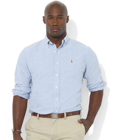 Polo ralph lauren men 39 s big and tall long sleeve oxford for Big and tall oxford shirts