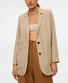 Women's Buttoned Soft Blazer