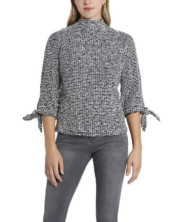 Vince Camuto Women's Elbow Sleeve Tie Cuff Pullover