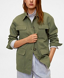 Women's Multi-Pocket Cotton Jacket