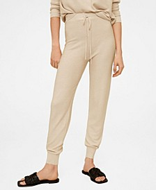 Women's Knit Jogger-Style Trousers