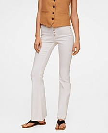 Women's Buttons Flare Jeans