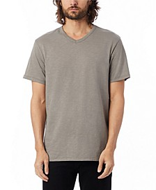 Men's Weathered Slub Keeper V-neck T-shirt