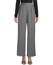 Heathered Sabre Wide-Leg Pants