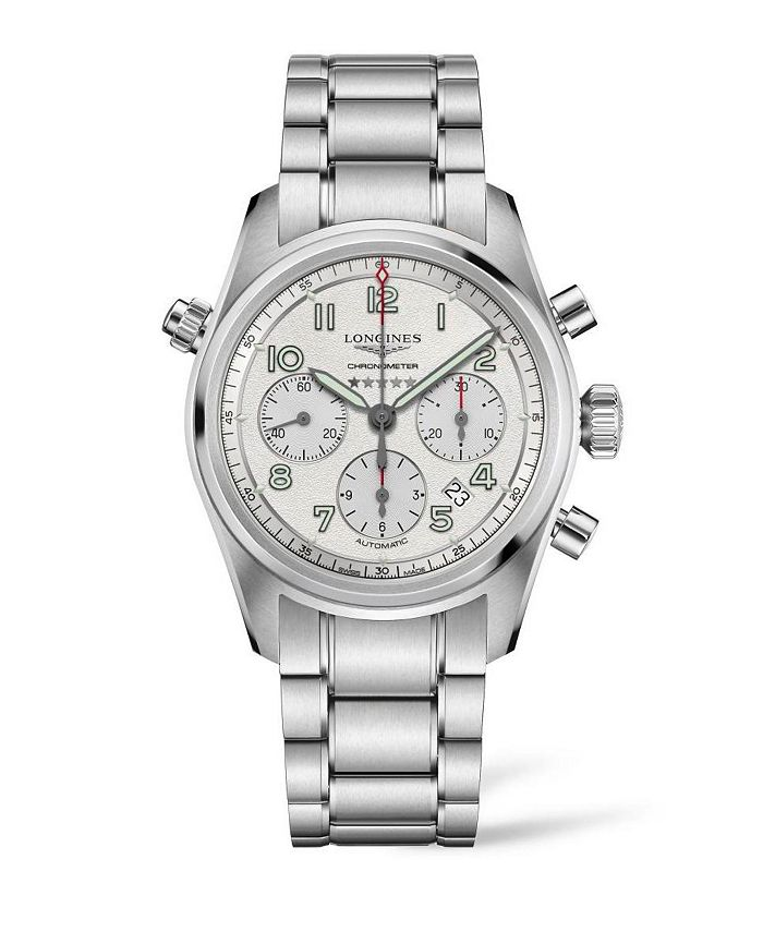 Longines - Men's Automatic Spirit Stainless Steel Chronometer Bracelet Watch 42mm