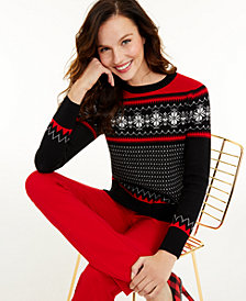 Charter Club Women's Snowflake Sweater, Created for Macy's