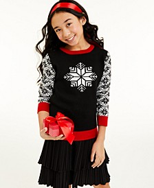 Big Girls Snowflake Sweater, Created for Macy's