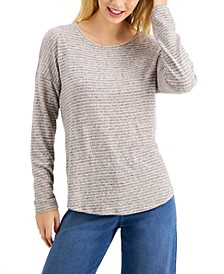 Striped Long-Sleeve Top, Created For Macy's