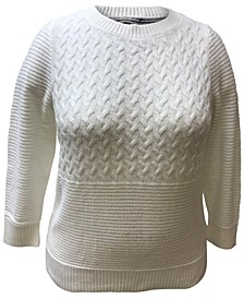 Plus Size Mixed-Stitch Sweater, Created for Macy's