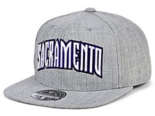 Sacramento Kings Hardwood Classic Team Heather Fitted Cap