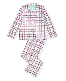 Little and Big Girls Plaid Pajama Set