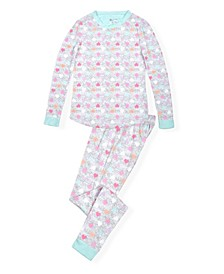 Big Girls Tight Fit Pajama Set in Cosy Fabric