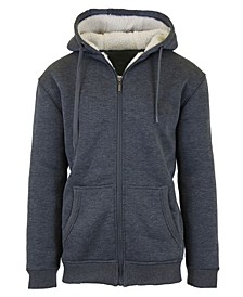 Men's Sherpa Lined Fleece Zip-Up Hoodie