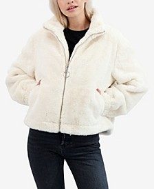 Junior's Reversible Faux Fur Bomber