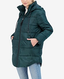 Junior's Hooded Puffer Coat
