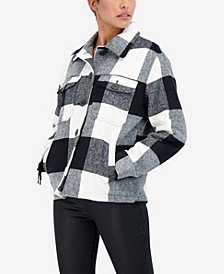 Sebby Junior's Buffalo Plaid Shirt Coat