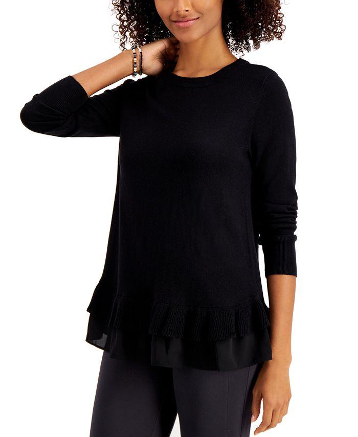 Style & Co - Plus Size Chiffon-Hem Tunic