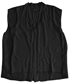Plus Size Inverted-Pleat Top, Created for Macy's