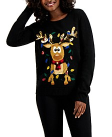 Sequined Reindeer Sweater, Created for Macy's