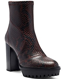 Women's Erettie Lug Sole Platform Booties