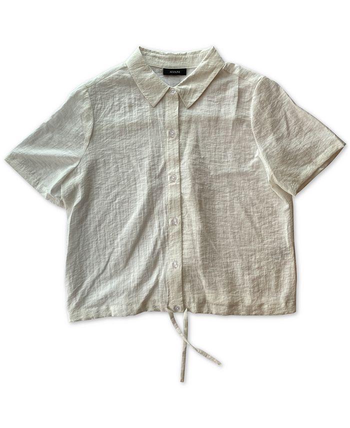 Alfani - Drawstring-Hem Shirt
