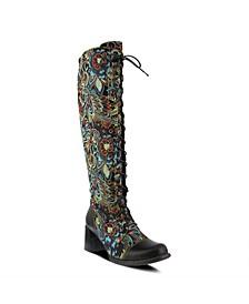 Women's Rarity Floral Jacquard Wide Calf Tall Boots