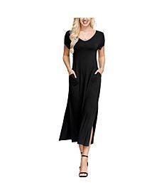 Women's Double V- Neck Dress