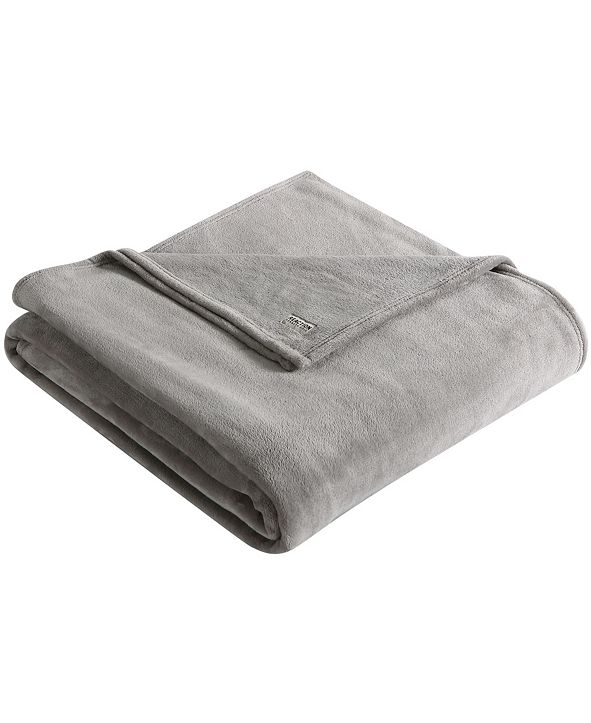 Kenneth Cole Solid Ultra Soft Plush King Blanket