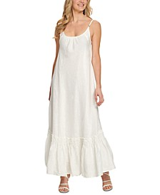 Ruffled-Hem Cami Maxi Dress