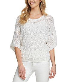 Patterned Dolman-Sleeve Top